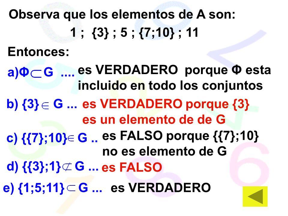 Observa que los elementos de A son: