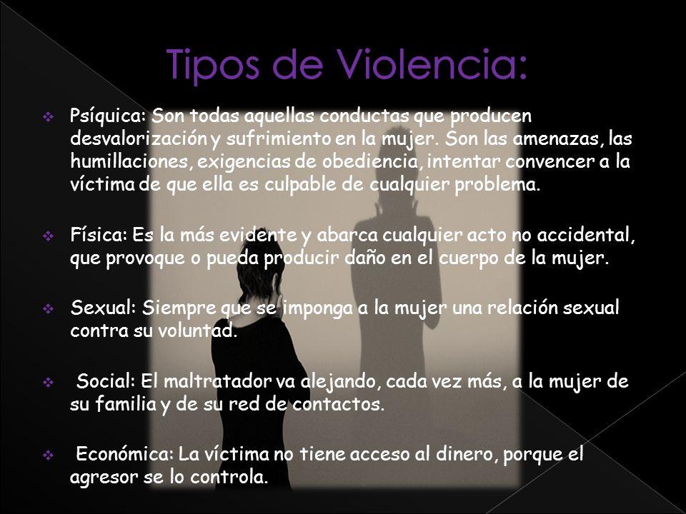 Tipos de Violencia: