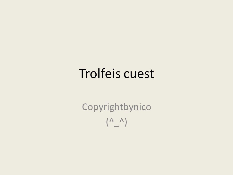 Copyrightbynico (^_^)
