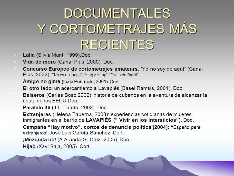 DOCUMENTALES Y CORTOMETRAJES MÁS RECIENTES