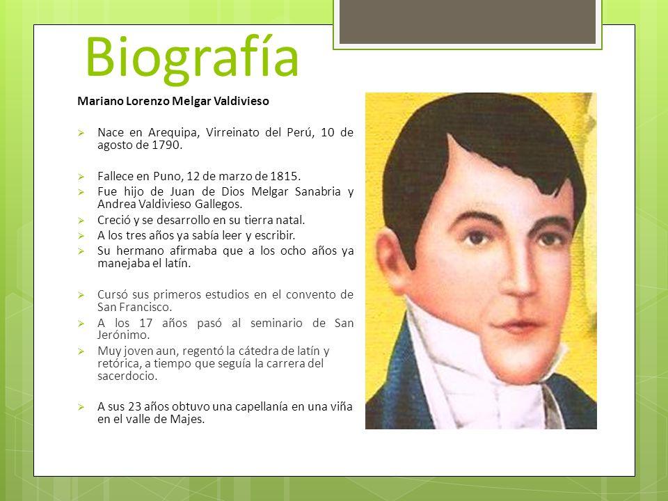 Biografía Mariano Lorenzo Melgar Valdivieso