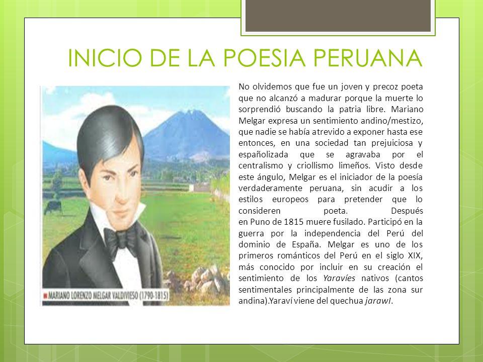 INICIO DE LA POESIA PERUANA