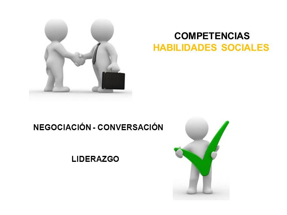 COMPETENCIAS HABILIDADES SOCIALES NEGOCIACIÓN - CONVERSACIÓN LIDERAZGO
