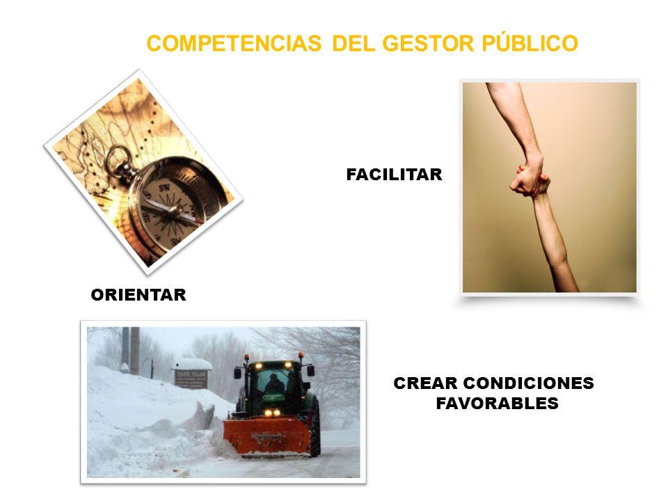 COMPETENCIAS DEL GESTOR PÚBLICO
