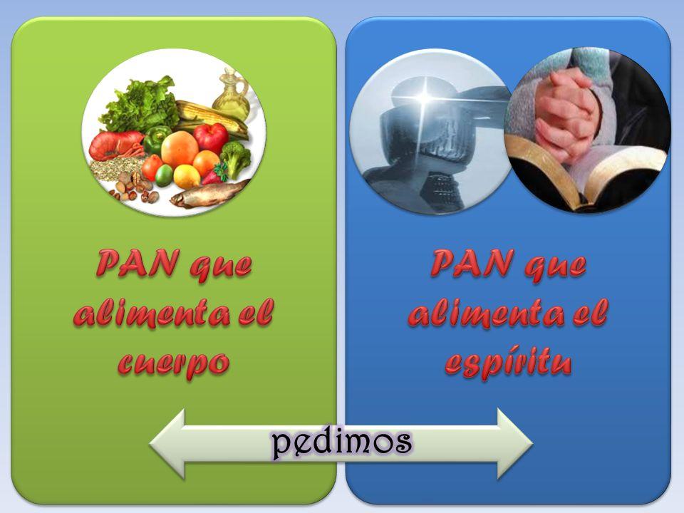 PAN que alimenta el cuerpo PAN que alimenta el espíritu