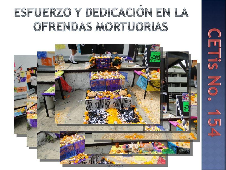 ESFUERZO Y DEDICACIÓN EN LA OFRENDAS MORTUORIAS