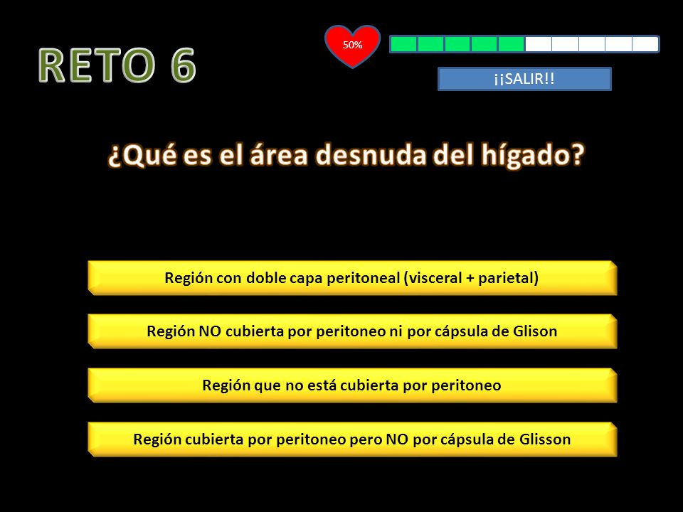 RETO 6 ¿Qué es el área desnuda del hígado ¡¡SALIR!!