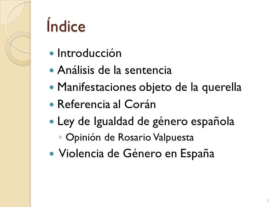 Índice Introducción Análisis de la sentencia