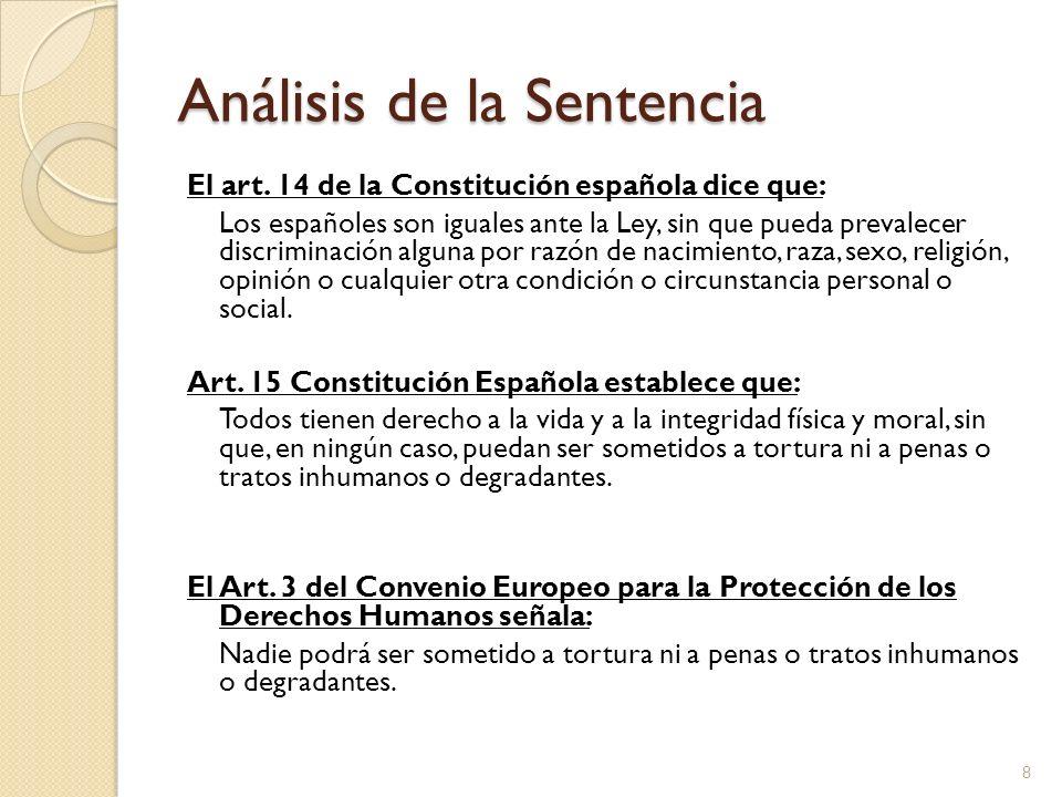 Análisis de la Sentencia