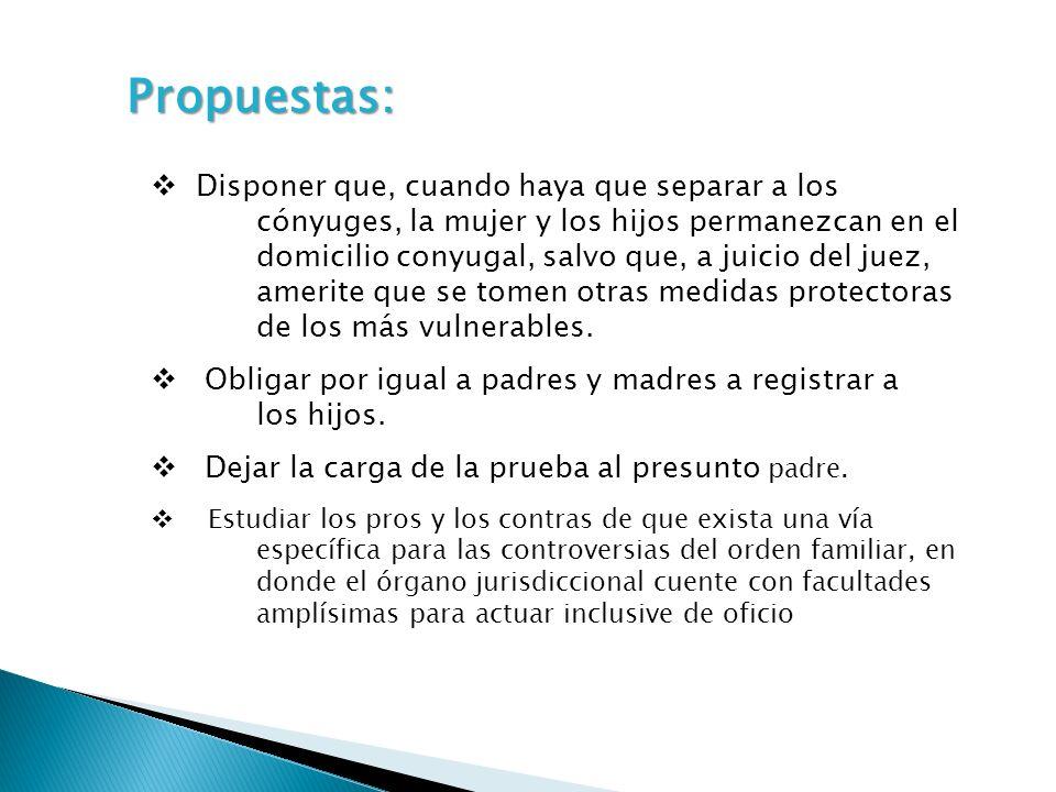 Propuestas: