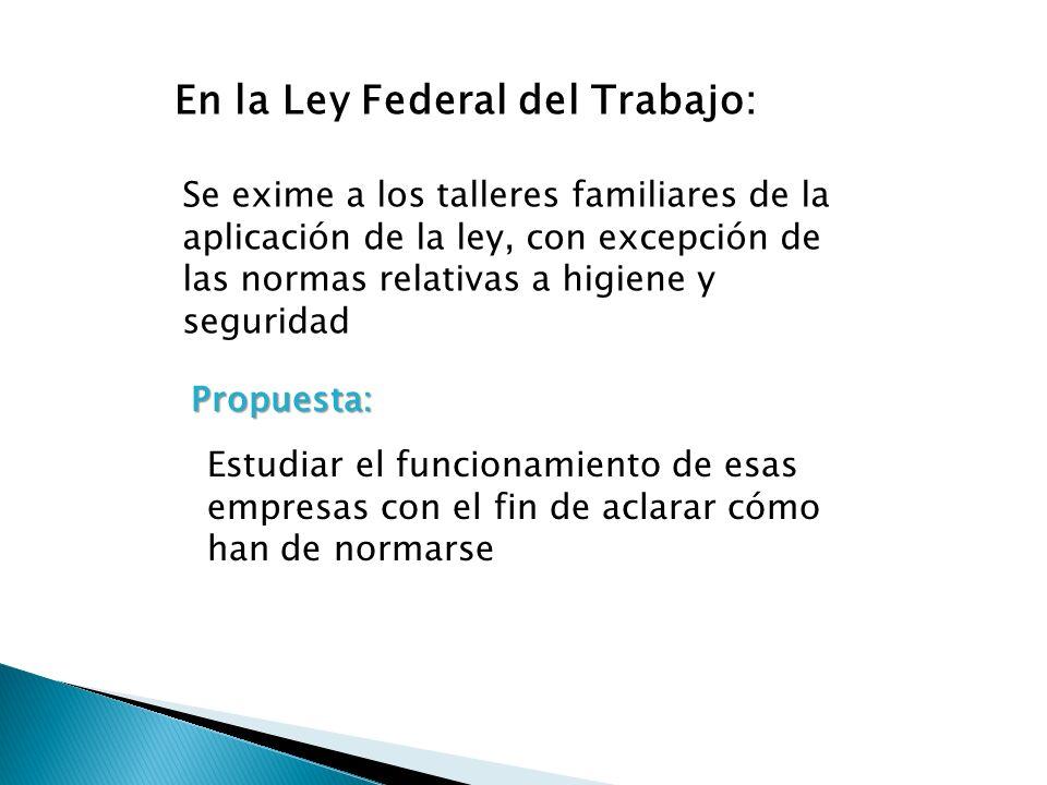 En la Ley Federal del Trabajo: