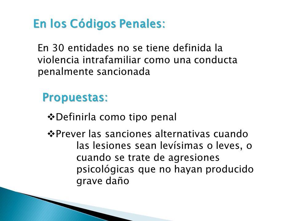 En los Códigos Penales: