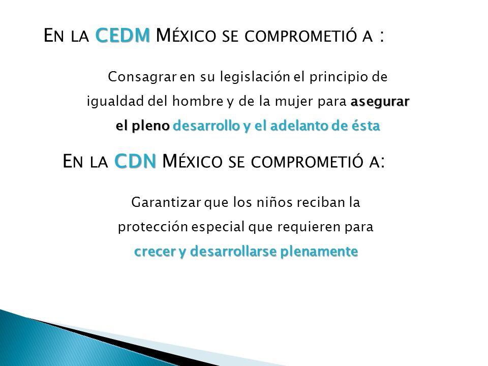 En la CEDM México se comprometió a :
