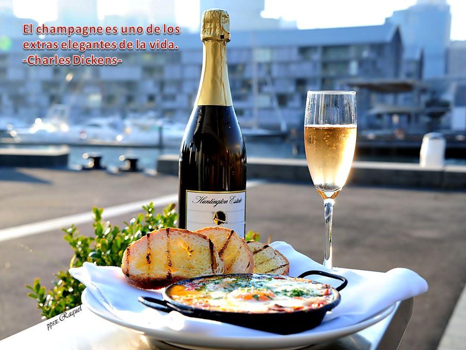 El champagne es uno de los extras elegantes de la vida.