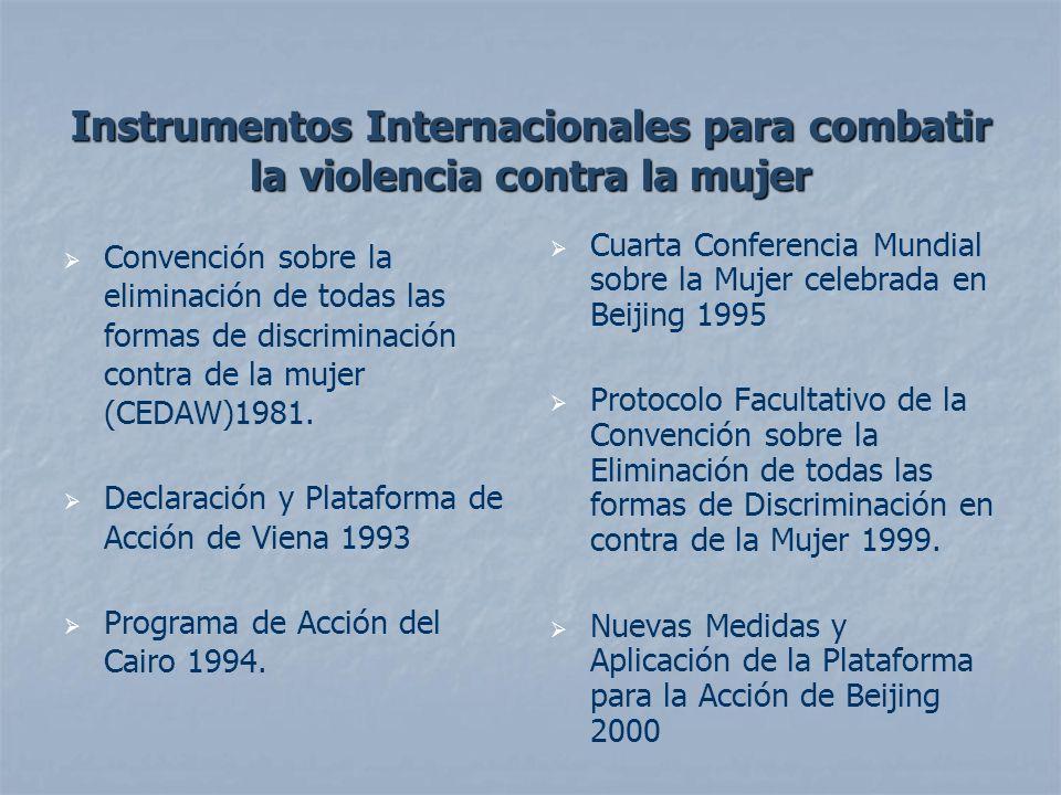 Instrumentos Internacionales para combatir la violencia contra la mujer