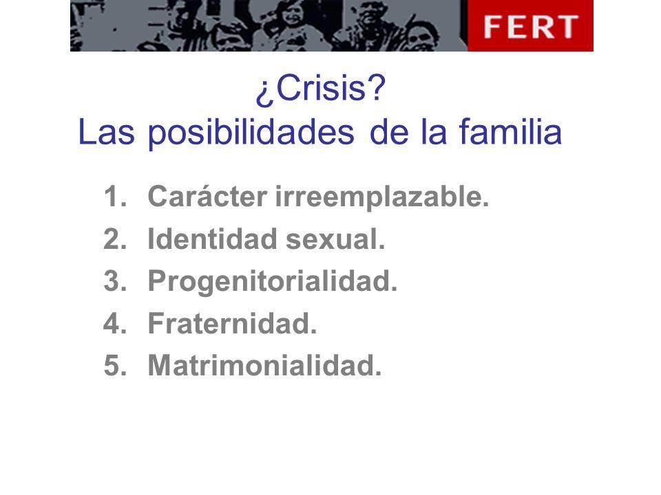 ¿Crisis Las posibilidades de la familia