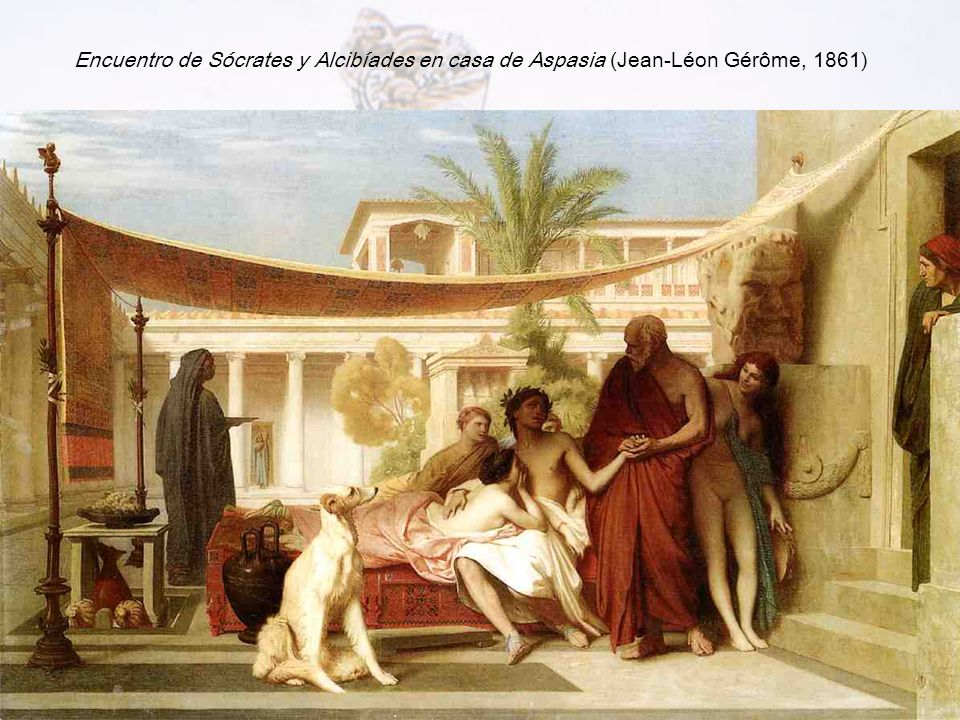 Encuentro de Sócrates y Alcibíades en casa de Aspasia (Jean-Léon Gérôme, 1861)