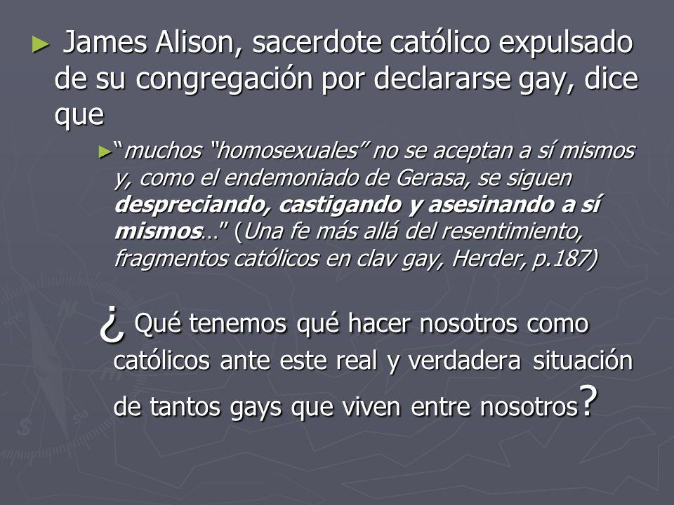 James Alison, sacerdote católico expulsado de su congregación por declararse gay, dice que