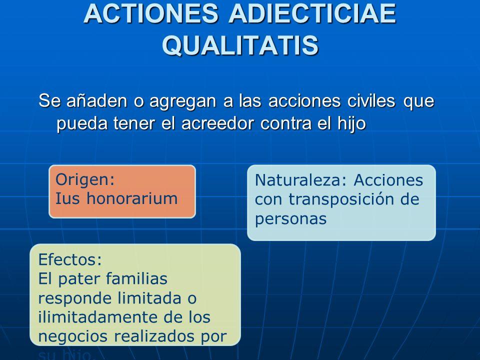 ACTIONES ADIECTICIAE QUALITATIS