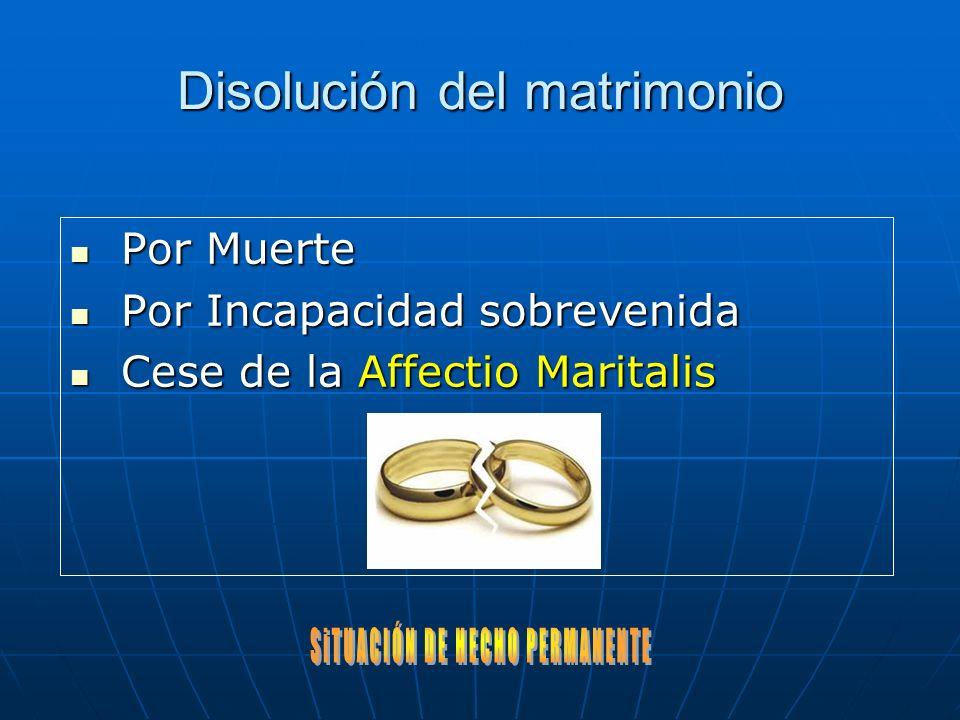 Disolución del matrimonio