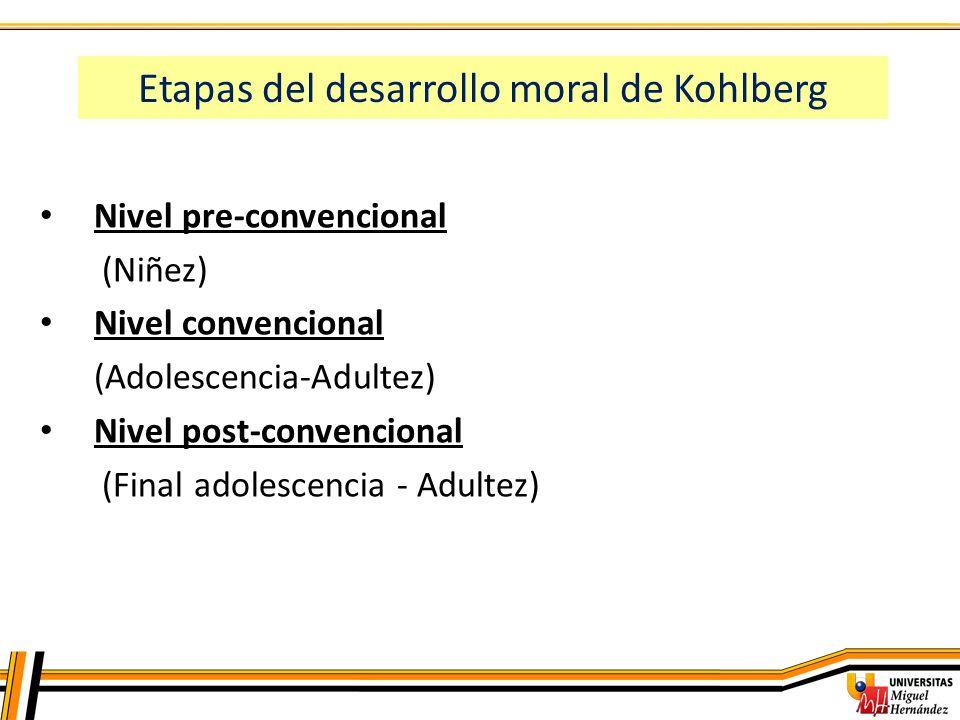 Etapas del desarrollo moral de Kohlberg