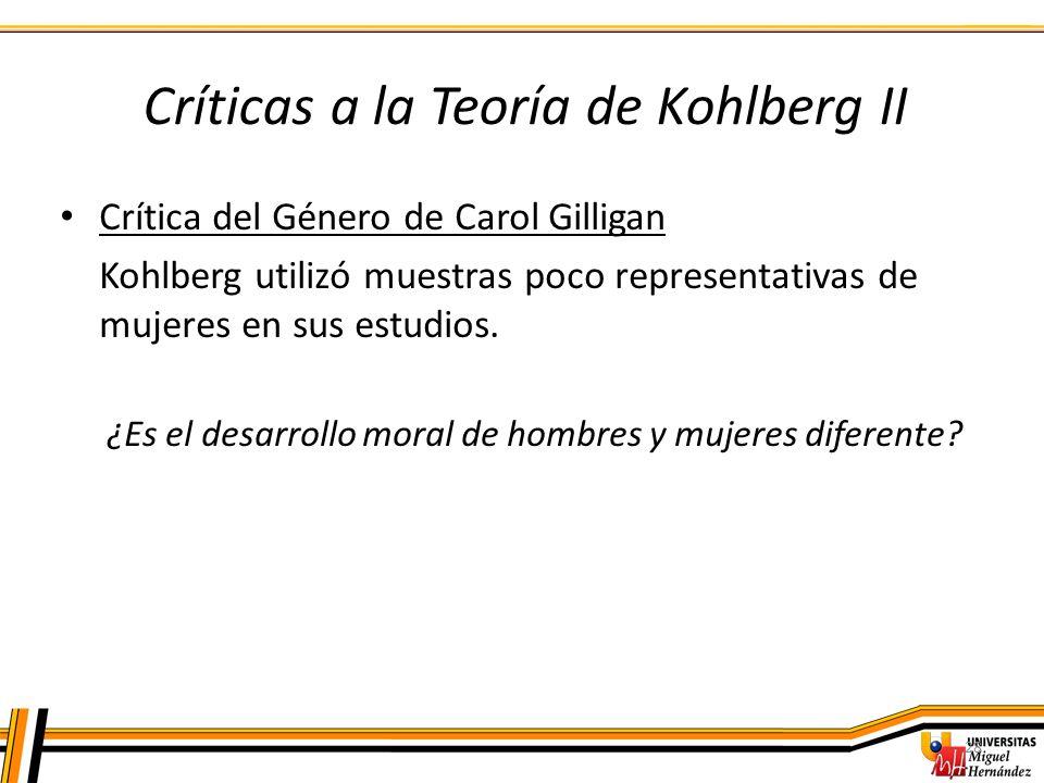 Críticas a la Teoría de Kohlberg II