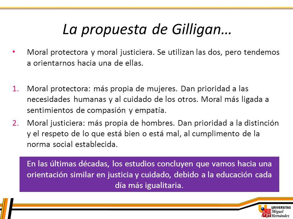 La propuesta de Gilligan…