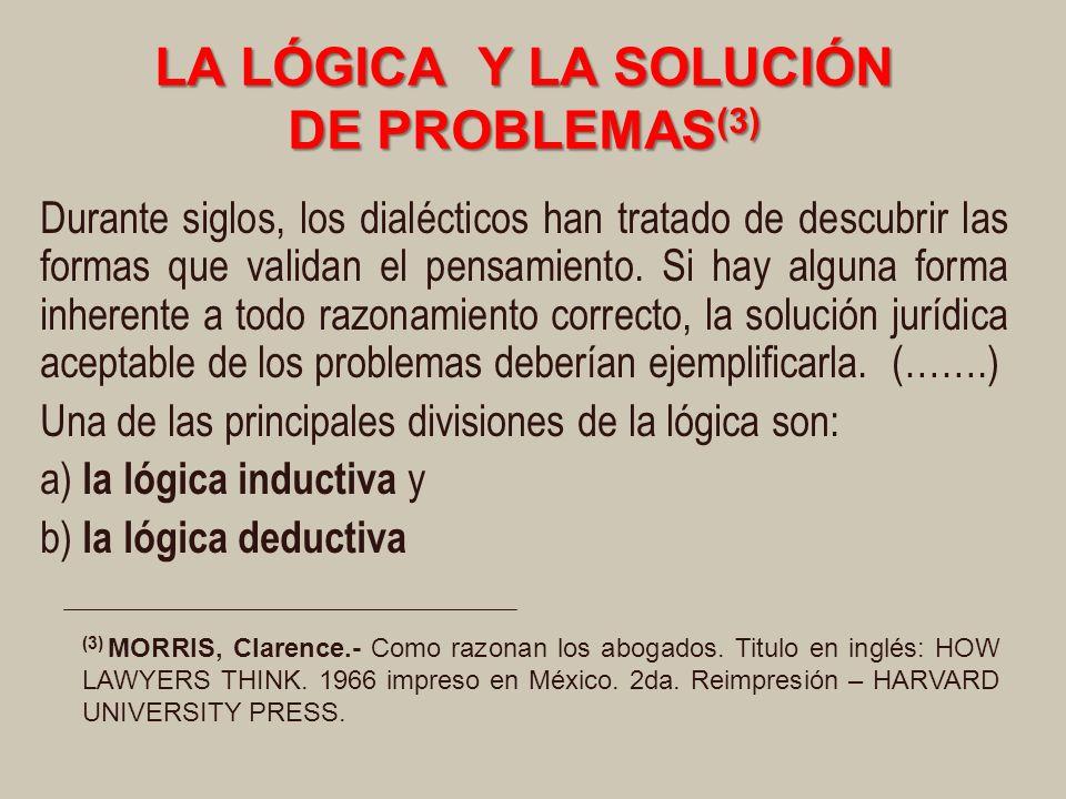 LA LÓGICA Y LA SOLUCIÓN DE PROBLEMAS(3)