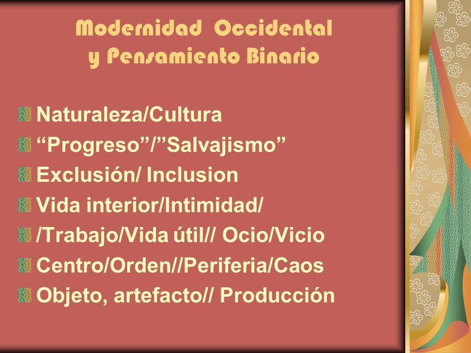 Modernidad Occidental y Pensamiento Binario