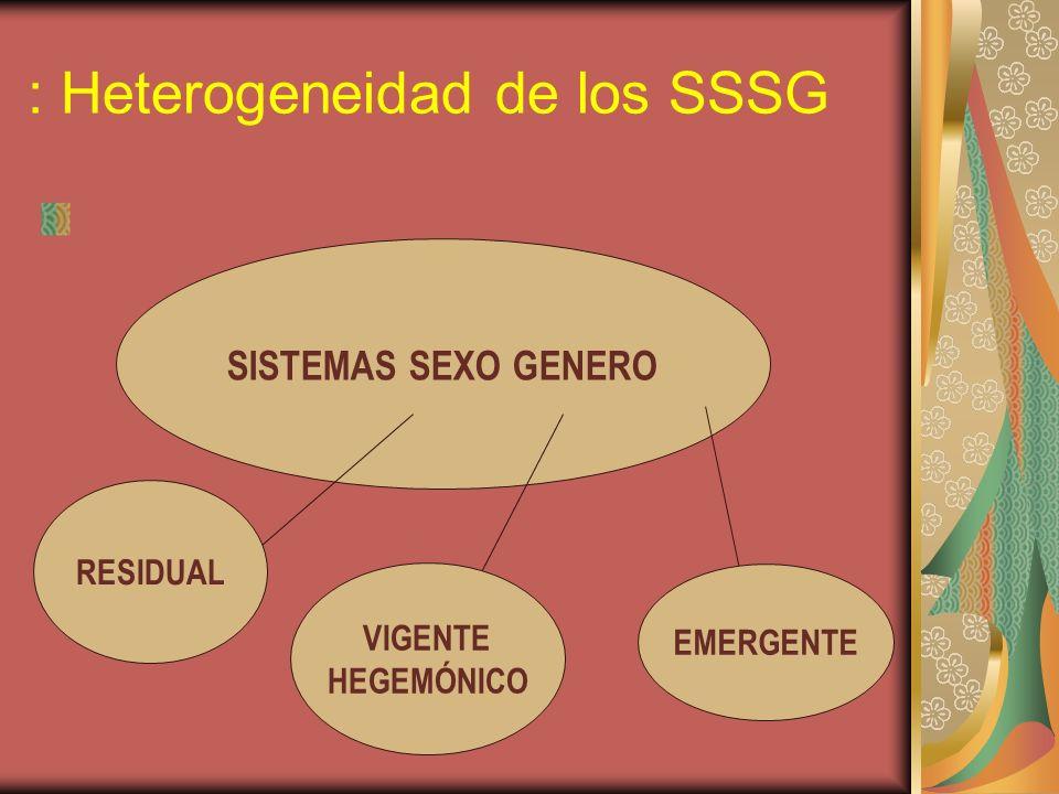 : Heterogeneidad de los SSSG