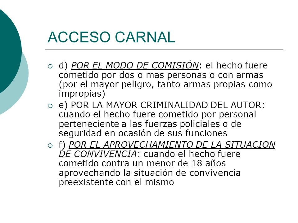 ACCESO CARNAL