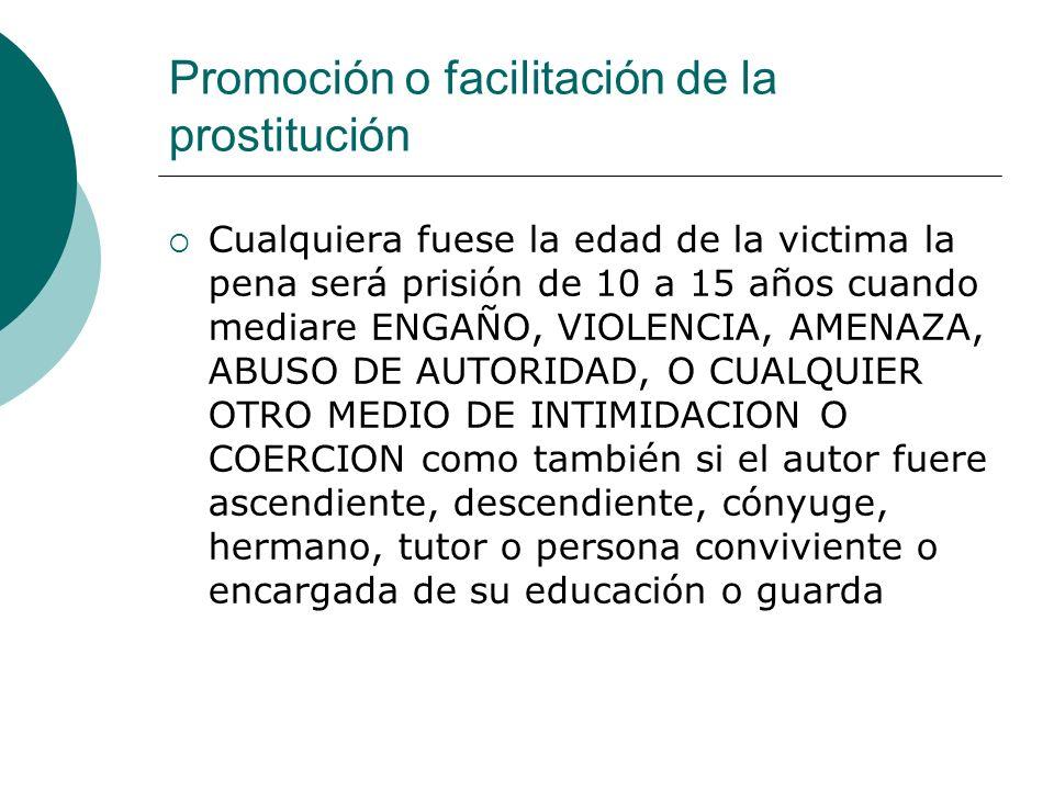 Promoción o facilitación de la prostitución