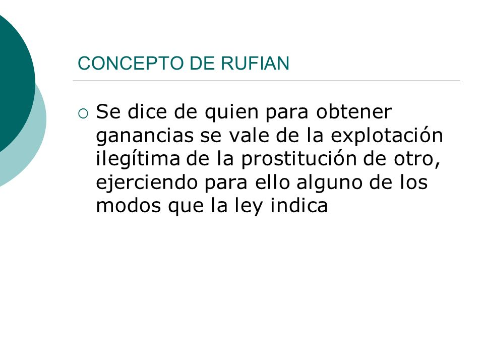 CONCEPTO DE RUFIAN