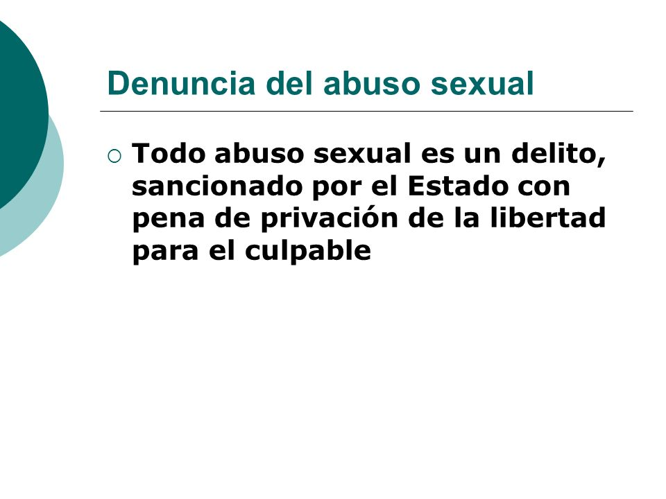 Denuncia del abuso sexual