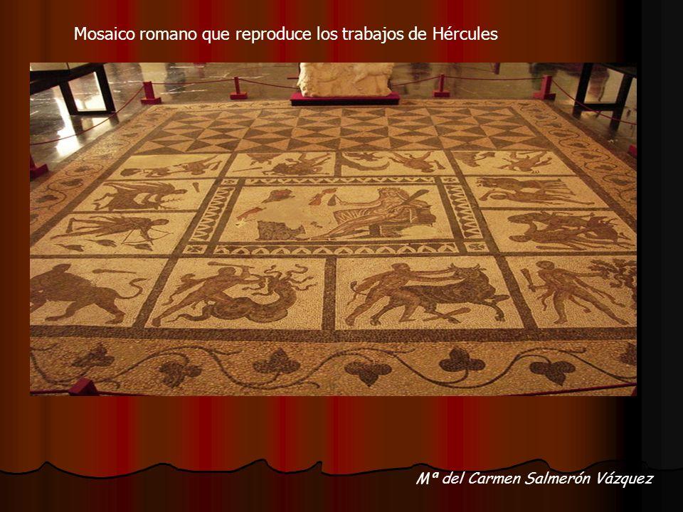 Mosaico romano que reproduce los trabajos de Hércules