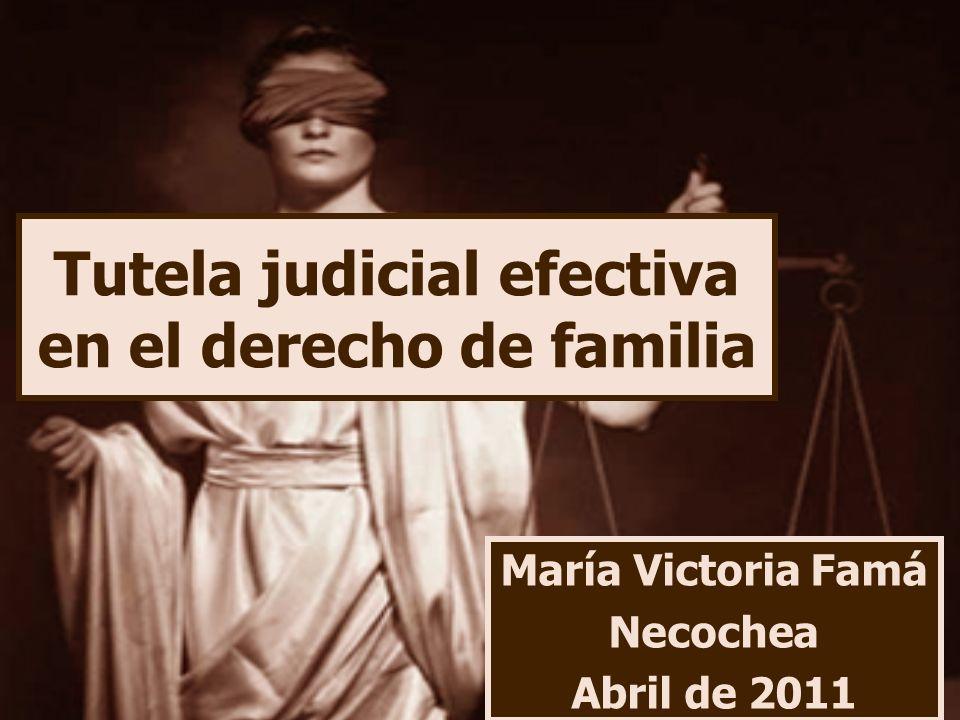 Tutela judicial efectiva en el derecho de familia