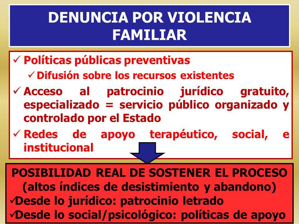 DENUNCIA POR VIOLENCIA FAMILIAR