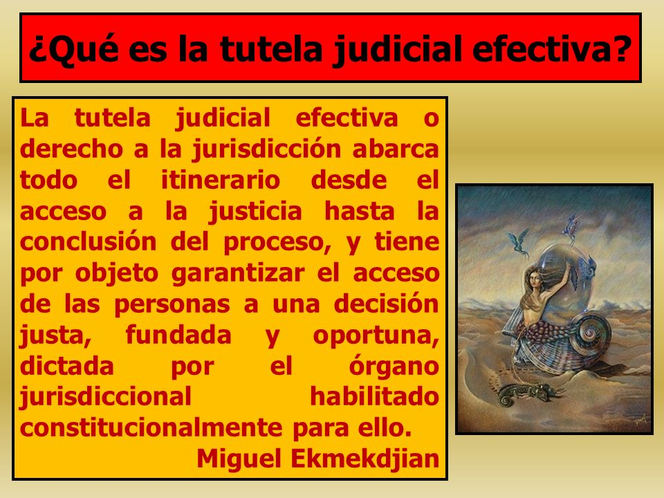 ¿Qué es la tutela judicial efectiva