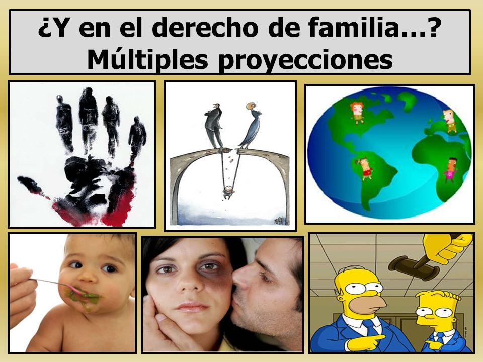 ¿Y en el derecho de familia… Múltiples proyecciones