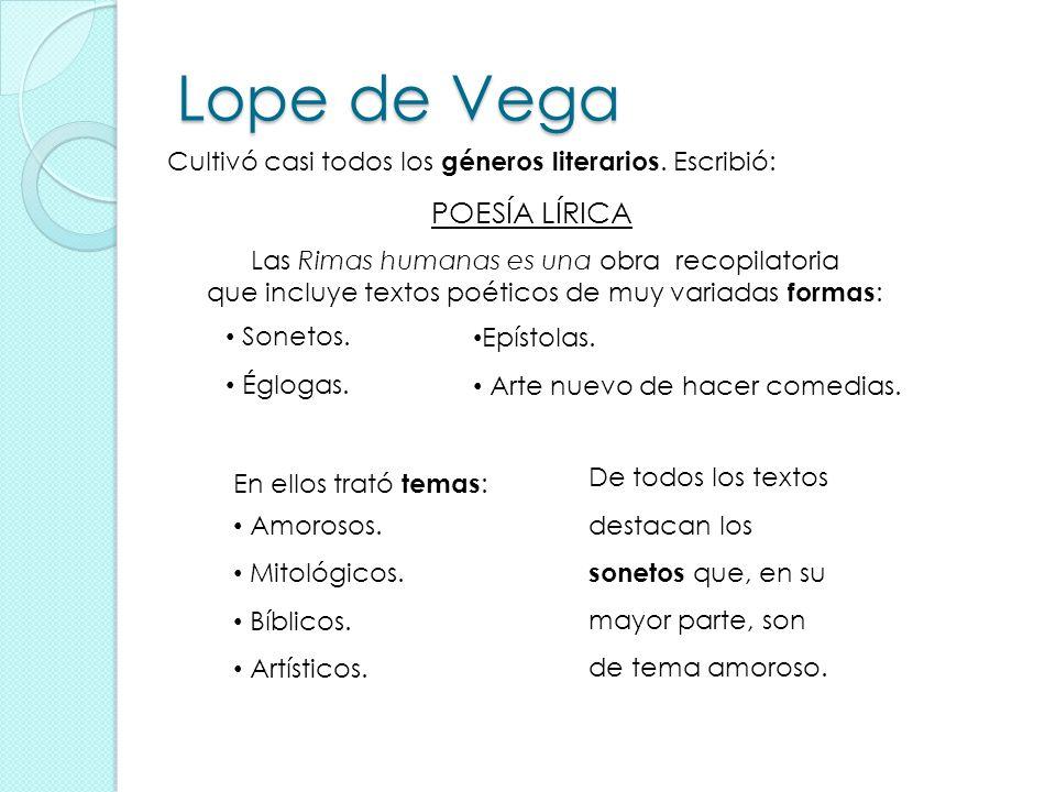 Lope de Vega POESÍA LÍRICA