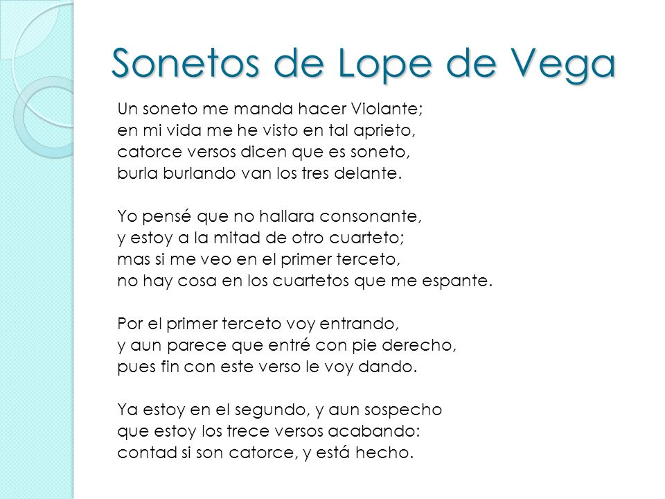 Sonetos de Lope de Vega