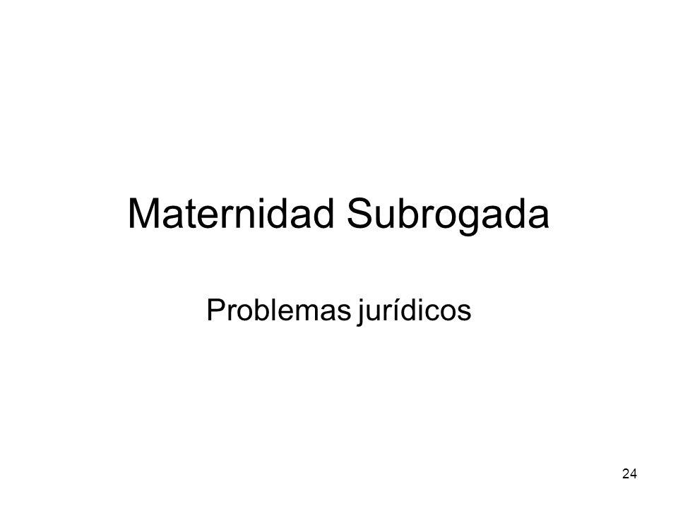 Maternidad Subrogada Problemas jurídicos