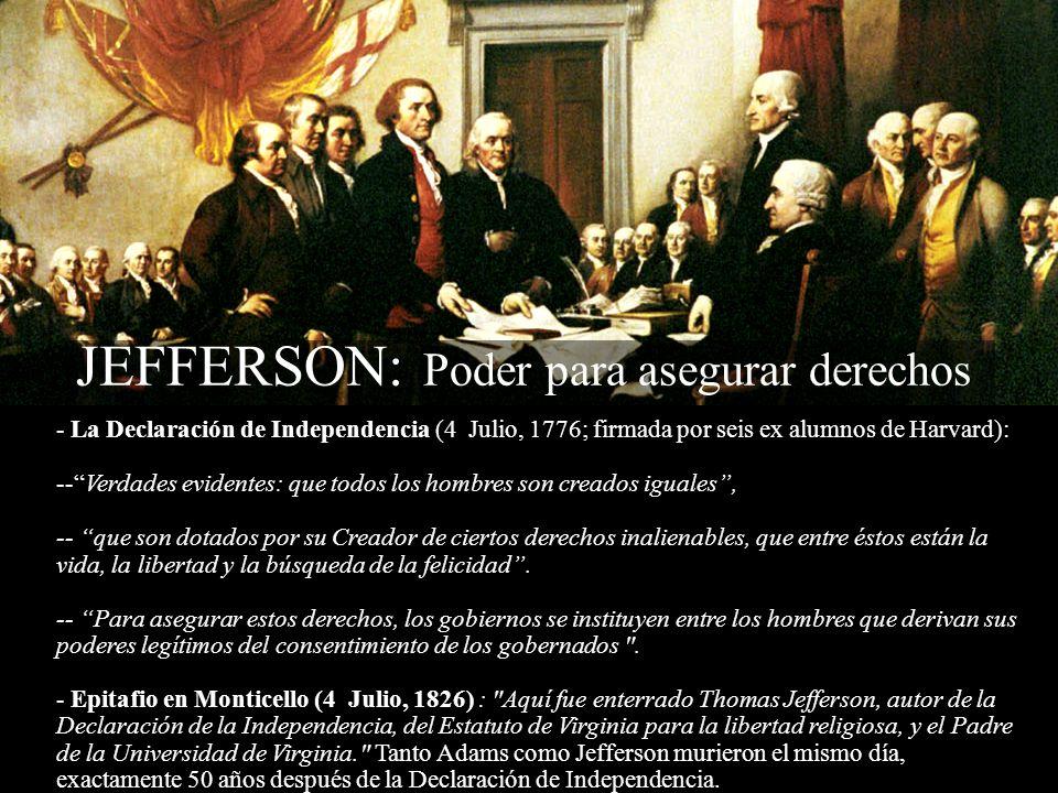 JEFFERSON: Poder para asegurar derechos