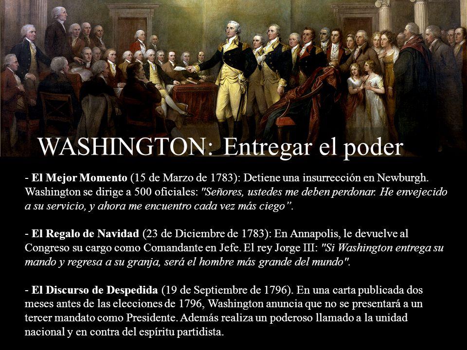 WASHINGTON: Entregar el poder