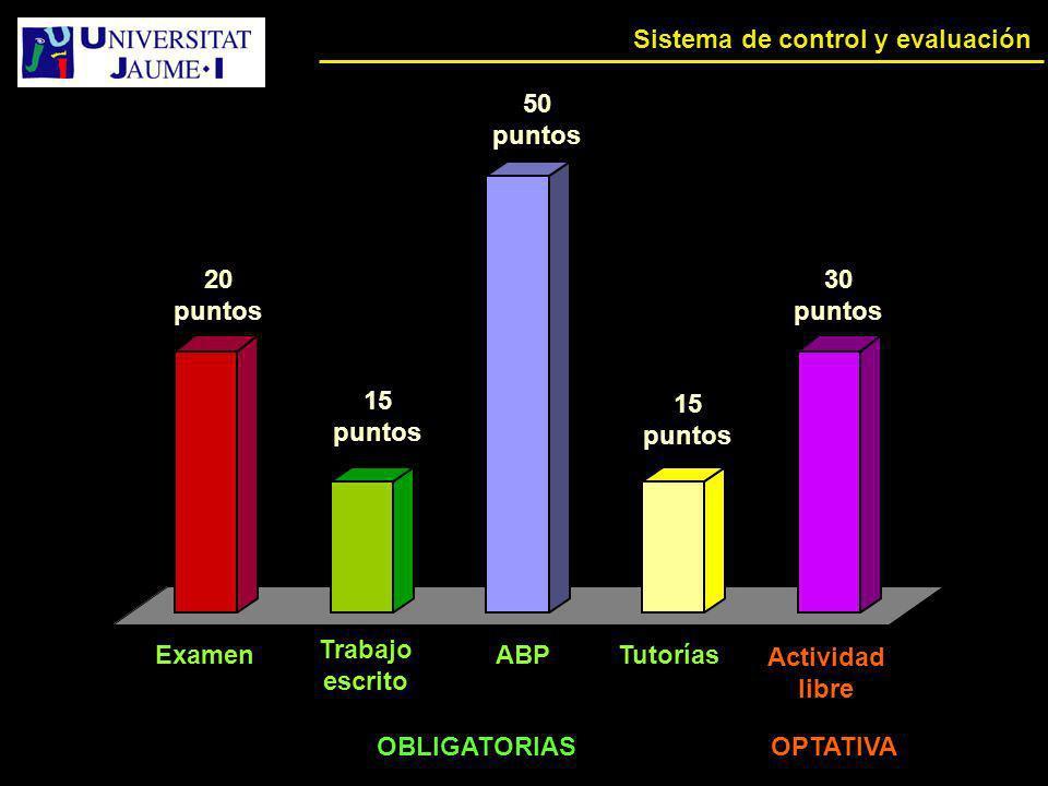 Sistema de control y evaluación