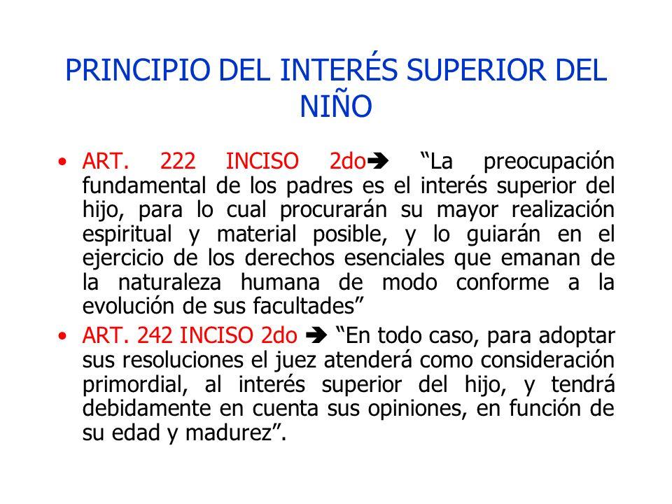 PRINCIPIO DEL INTERÉS SUPERIOR DEL NIÑO