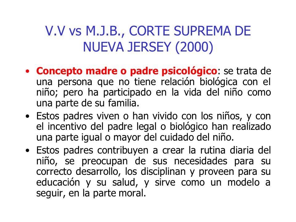 V.V vs M.J.B., CORTE SUPREMA DE NUEVA JERSEY (2000)