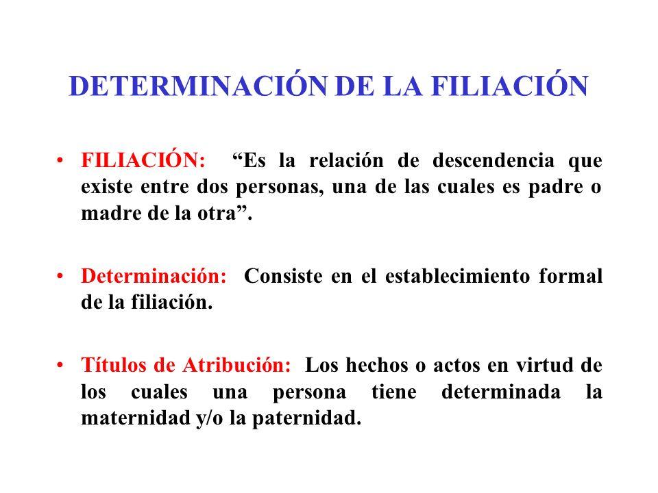 DETERMINACIÓN DE LA FILIACIÓN