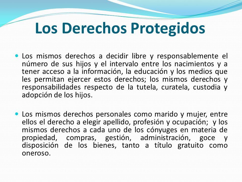 Los Derechos Protegidos
