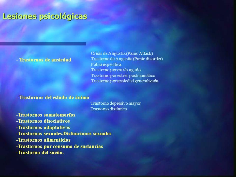 Lesiones psicológicas
